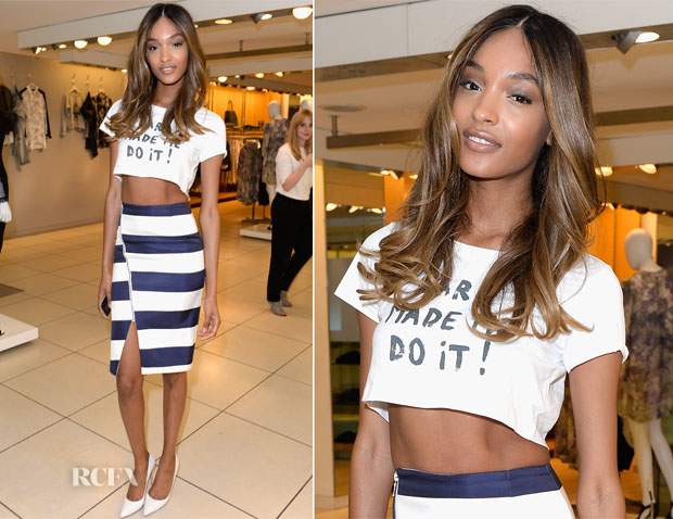 Jourdan Dunn In Nicholas - French Connection #NeverMissATrick Launch Party