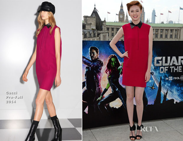 Karen Gillan In Gucci - 'Guardians Of The Galaxy' London Photocall