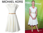 Katherine Heigl's Michael Kors Belted Flared Dress
