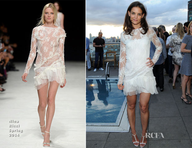 Katie Holmes In Nina Ricci - ASP- The World Surf League Cocktail Party