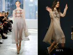 Keira Knightley In Delpozo - Meet The Cast 'Begin Again'