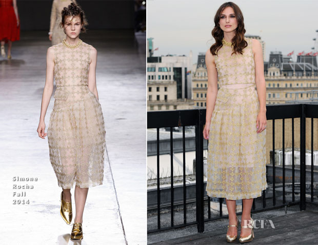 Keira Knightley In Simone Rocha - 'Begin Again' London Photocall