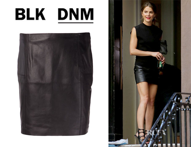 Keri Russell's BLK DNM Fitted Skirt