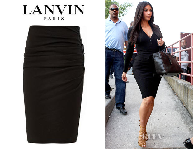 Kim Kardashian's Lanvin Ruched Pencil Skirt