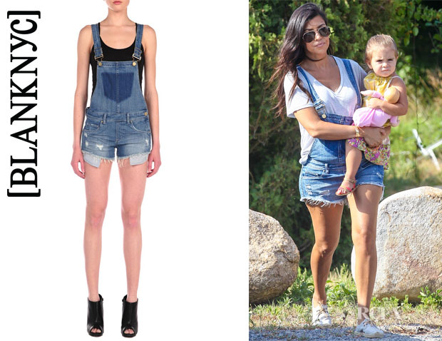 Kourtney Kardashian's BLANK NYC Shortalls Denim