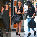 Lea Michele Loves Her Pedro Garcia 'Sofia' Open-Toe Booties