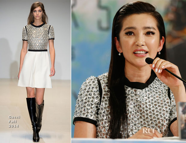 Li Bingbing In Gucci 'Transformers Age of Extinction' Press Conference
