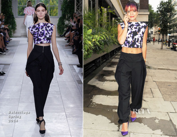 Lily Allen In Balenciaga - Out In London