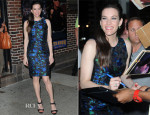 Liv Tyler In Proenza Schouler - Late Show with David Letterman