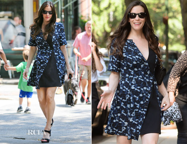 Liv Tyler In Proenza Schouler - Live with Kelly & Michael