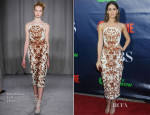 Lizzy Caplan In Marchesa - CBS, CW And Showtime Party