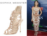 Lizzy Caplan's Sophia Webster 'Lacey' Strappy Sandals
