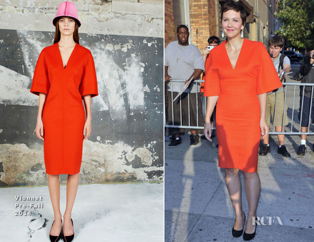 Maggie Gyllenhaal In Vionnet - The Daily Show with Jon Stewart