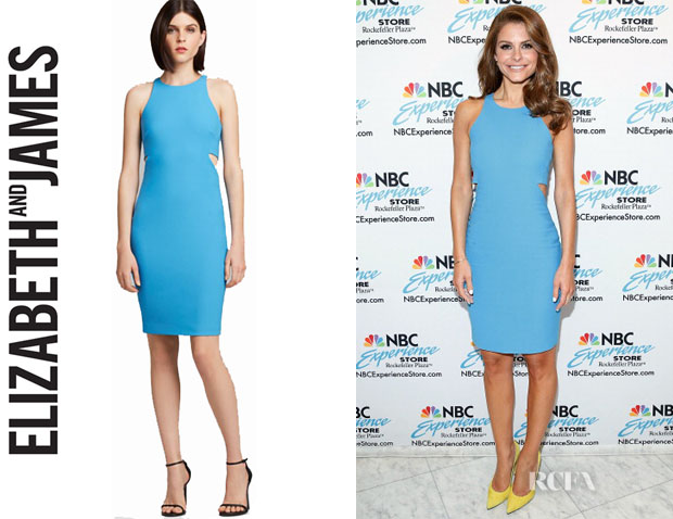 Maria Menounos' Elizabeth and James 'Lela' Cutout Dress