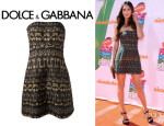 Megan Fox's Dolce & Gabbana Strapless Quilted Dress