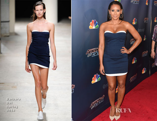 Mel B In Barbara Bui -  'America's Got Talent' Season 9 Post-Show Red Carpet Event