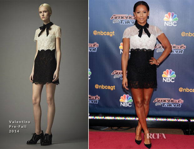 Mel B In Valentino - 'America's Got Talent' Season 9 Pre-Show Red Carpet Event