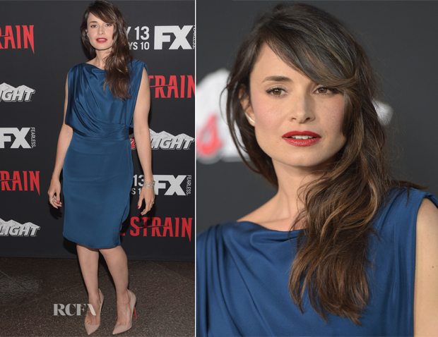 Mia Maestro In Jason Wu - 'The Strain' LA Premiere
