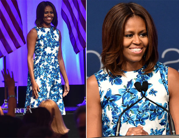 Michelle Obama In Tanya Taylor - LULACNUVOtv Unity Luncheon