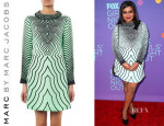 Mindy Kaling's Marc by Marc Jacobs Radio Waves-Print Crepe Dress