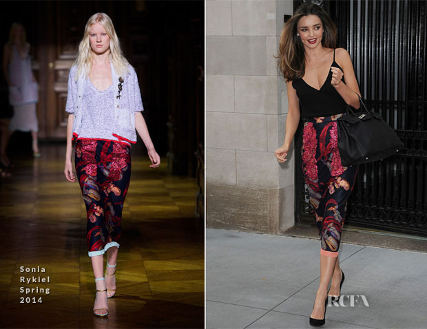 Miranda Kerr In Sonia Rykiel - En Route The Tonight Show Starring Jimmy Fallon