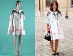 Miroslava Duma Front Row @ Fall 2014 Couture Fashion Week
