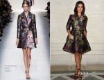 Miroslava Duma Front Row @ Fall 2014 Couture Fashion Week 7