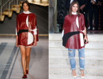 Miroslava Duma Front Row @ Fall 2014 Couture Fashion Week 8