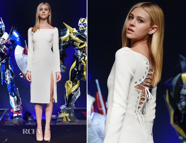 Nicola Peltz In Christian Dior - 'Transformers: Age of Extinction' Tokyo Press Conference