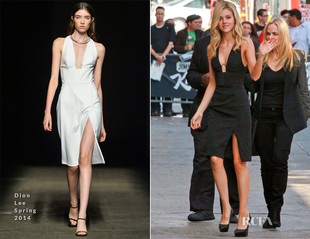 Nicola Peltz In Dion Lee - Jimmy Kimmel Live!