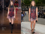 Nina Dobrev In Versace - Atelier Versace Fall 2014 Show