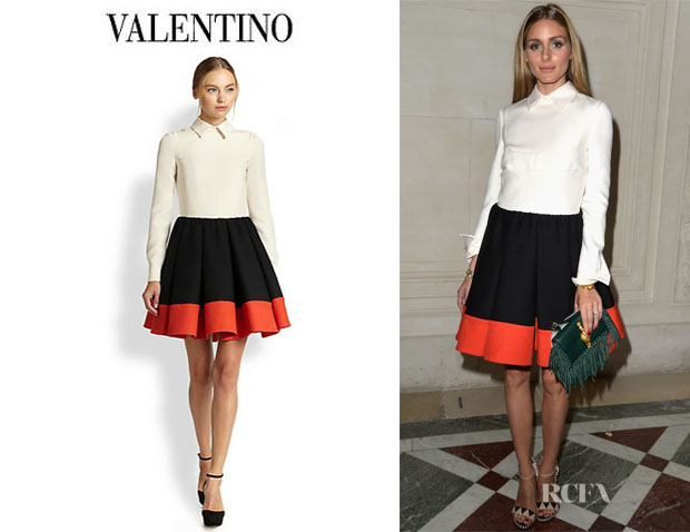 Olivia Palermo's Valentino Wool And Silk Blend Crepe Couture Dress
