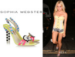 Pixie Lott's Sophia Webster 'Girl Talk' Patent-Leather Slingbacks