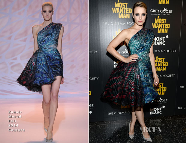 Rachel McAdams In Zuhair Murad Couture -  'A Most Wanted Man' New York Premiere