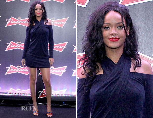 Rihanna In Alexander Wang - Budweiser Hotel