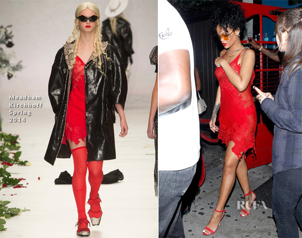 Rihanna In Meadham Kirchhoff - Hooray Henry's