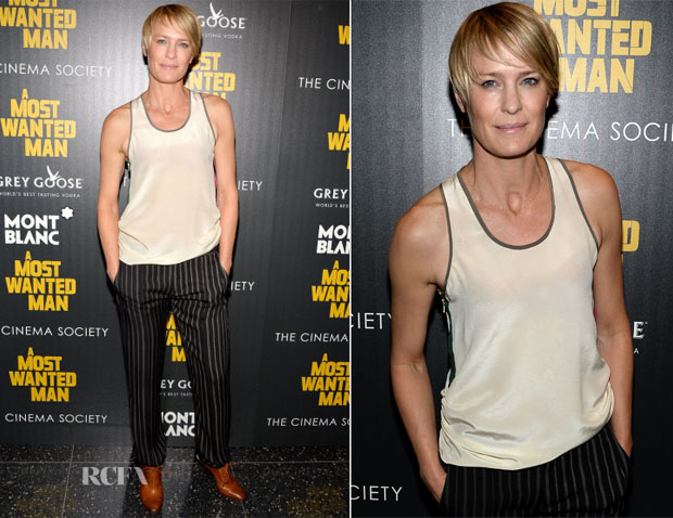 Robin Wright In Haute Hippie - 'A Most Wanted Man' New York Premiere