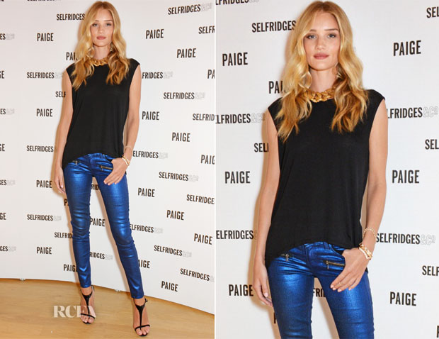 Rosie Huntington-Whiteley In Paige - Paige Shop Launch