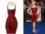 Scarlett Johansson's Vivienne Westwood Red Label Corseted Faille Dress