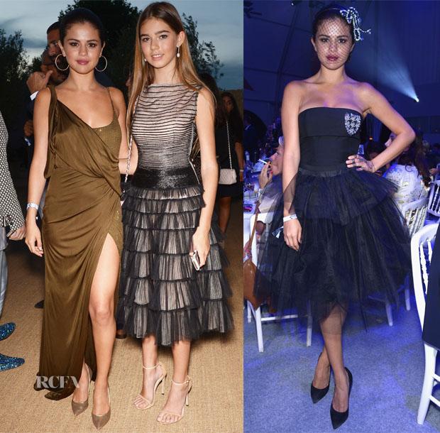 1bec8fac611 Selena Gomez In Emilio Pucci   Christian Dior – Leonardo DiCaprio  Foundation Gala