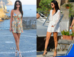 Selena Gomez' Zimmermann Playsuit and Dress Ischia Global Film and Music Festival Looks
