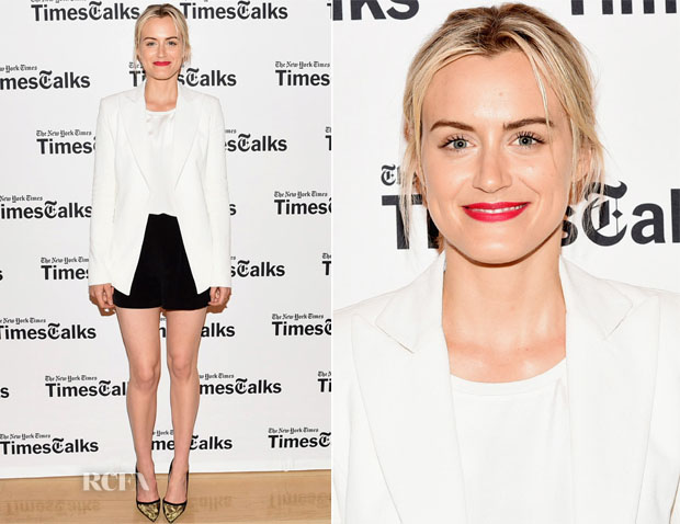 Taylor Schilling In Wes Gordon, Theory & Steven Alan - TimesTalks