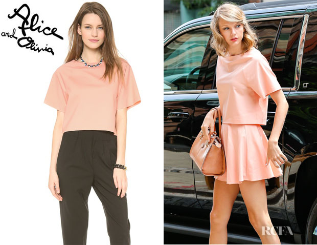 Taylor Swift's Alice + Olivia 'Vance' Boatneck Boxy Raglan Top