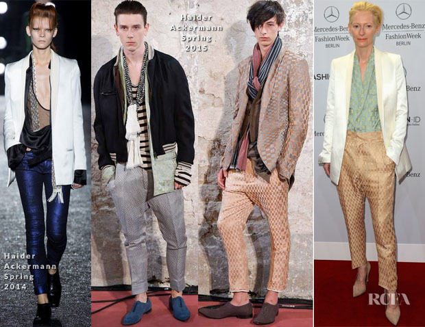 Tilda Swinton In Haider Ackermann - Roshi Porkar Spring 2015 Fashion Show