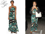 Vanessa Hudgens' Lovers + Friends 'Tonight' Floral Halter Maxi Dress