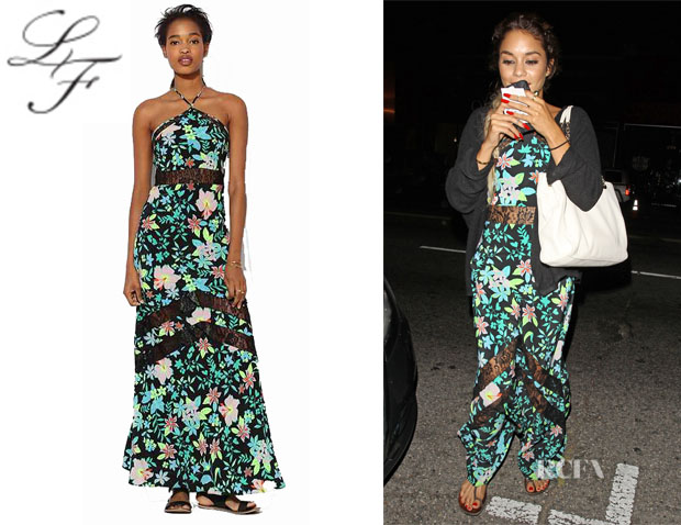 Vanessa Hudgens' Lovers + Friends 'Tonight' Floral Halter Maxi Dress1
