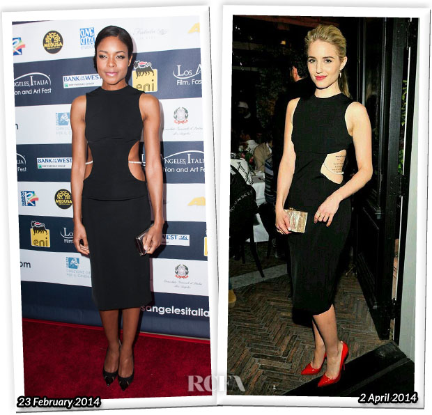 Who Wore Cushnie et Ochs Better Naomie Harris or Dianna Agron
