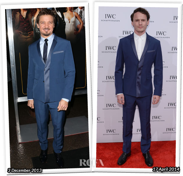 Who Wore Dior Homme Better...Jeremy Renner or Anton Yelchin?
