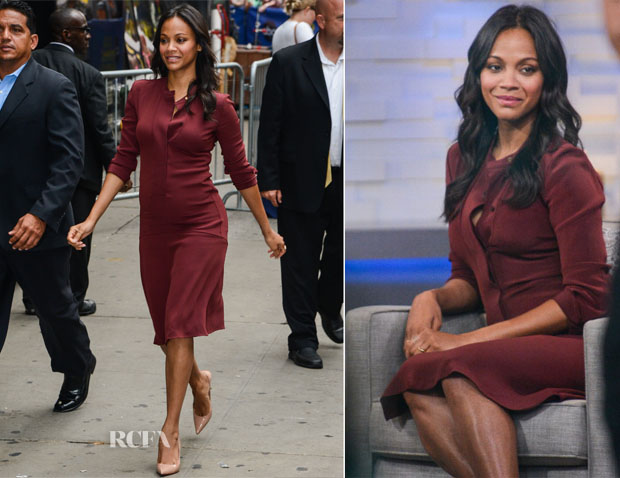 Zoe Saldana In Calvin Klein - Good Morning America
