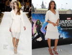 Zoe Saldana In Chloé – 'Guardians Of The Galaxy' London Photocall